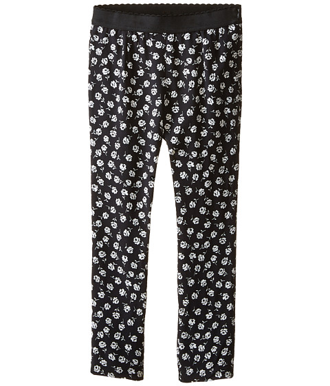 Dolce & Gabbana - City Floral Leggings (Big Kids) (Black/White Print) Women