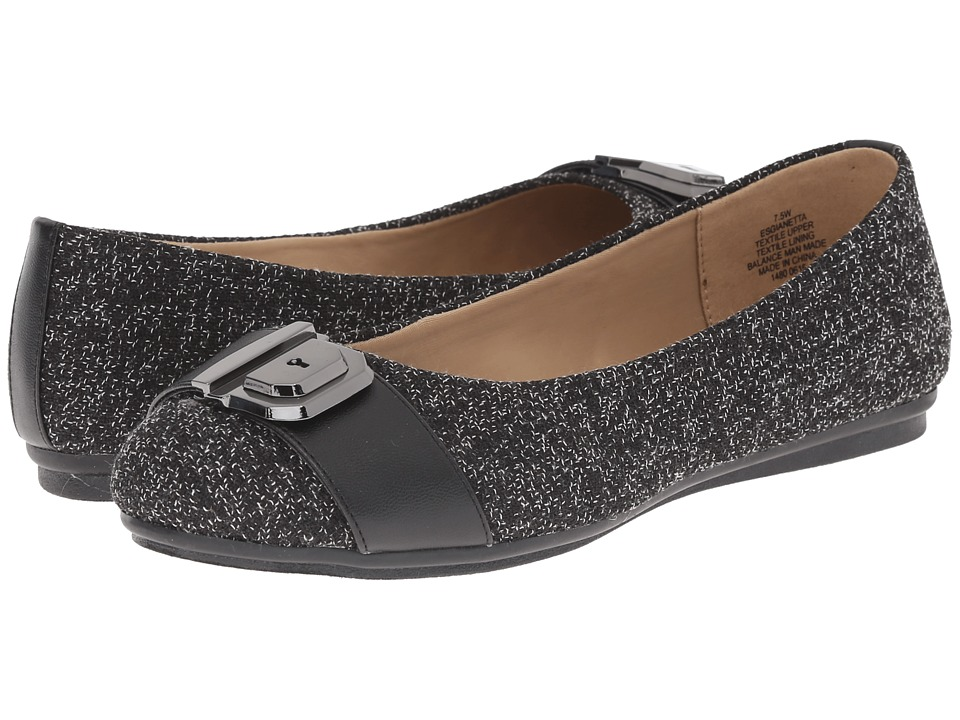 Easy Spirit - Gianetta (Black Multi/Black Fabric) Women's Shoes