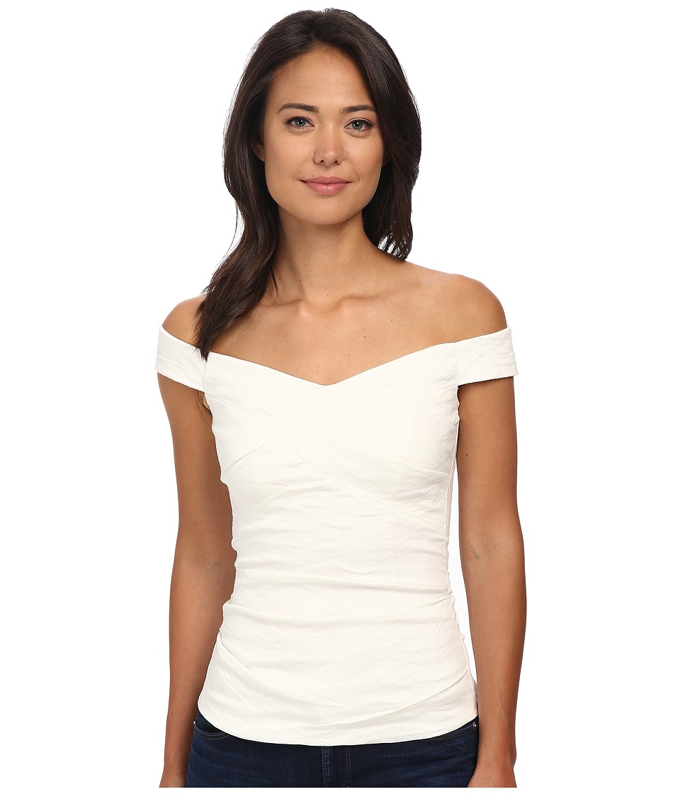 Nicole Miller - Jazz Off The Shoulder Top (White) Women's Clothing