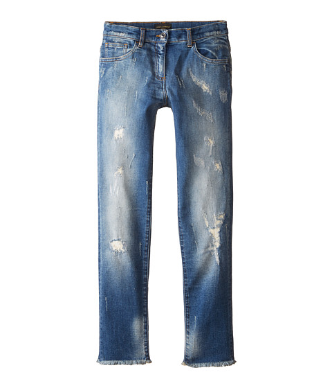 Dolce & Gabbana - Ceremony Distressed Jeans in Light Blue/Demin (Big Kids) (Light Blue/Demin) Women