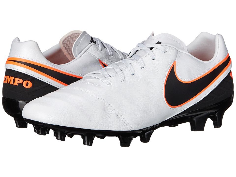 Nike - Tiempo Mystic V FG (Pure Platinum/Black/Hyper Orange) Men's Soccer Shoes