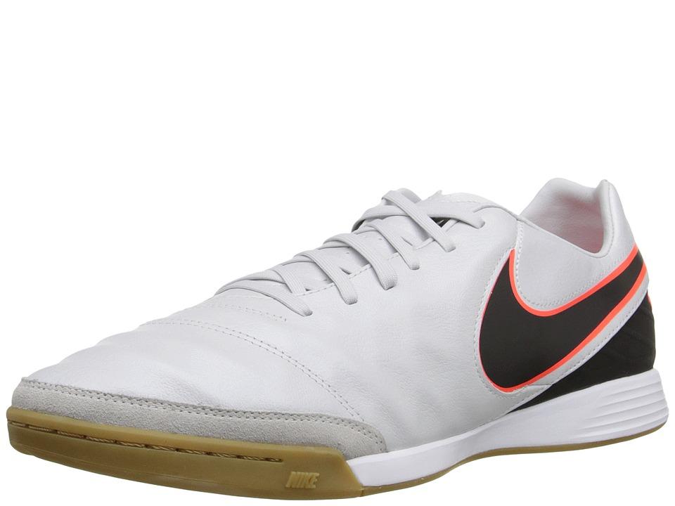 Nike - Tiempo Mystic V IC (Pure Platinum/Black/Hyper Orange) Men's Soccer Shoes