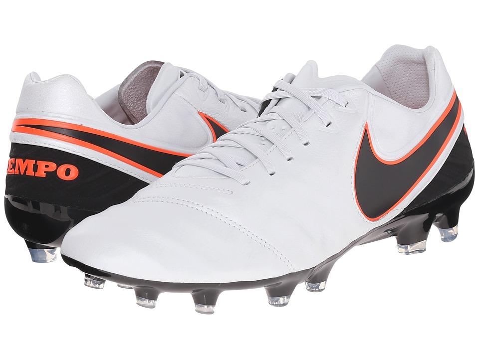 Nike - Tiempo Legacy II FG (Pure Platinum/Black/Hyper Orange) Men's Soccer Shoes