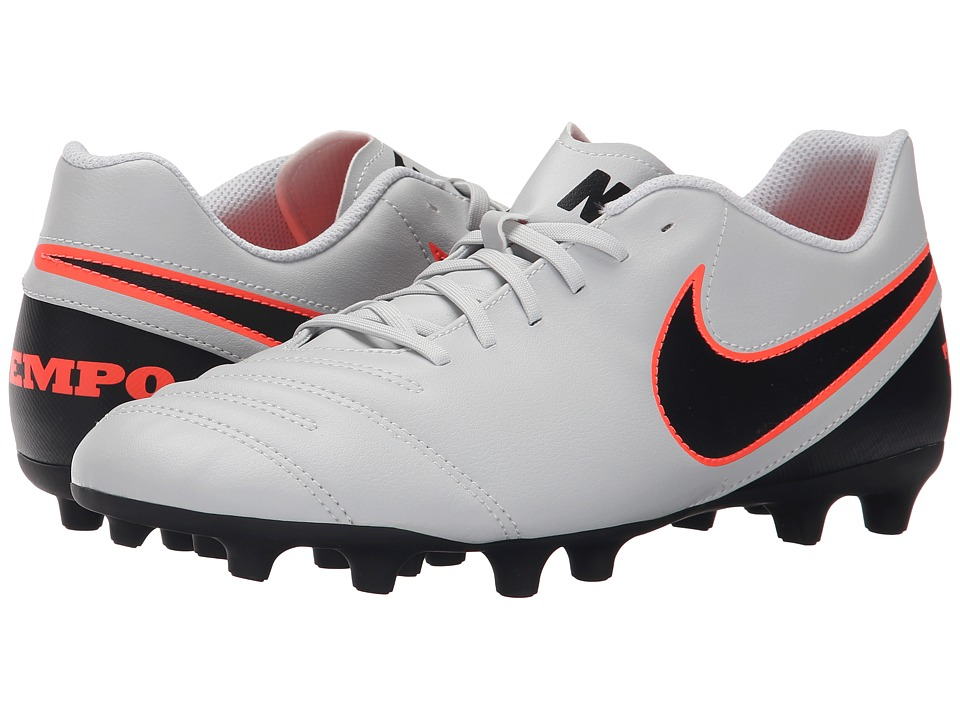 Nike - Tiempo Rio III FG (Pure Platinum/Black/Hyper Orange) Men's Soccer Shoes