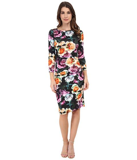 Nicole Miller - Rosa Christina 3/4 Sleeve Dress (Black Multi) Women's Dress