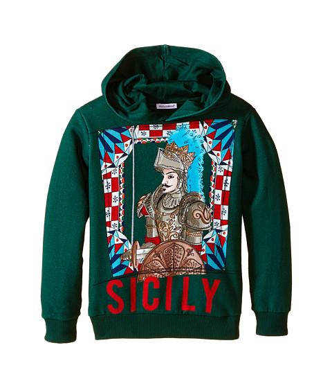 Dolce & Gabbana - Sicily Pullover Hoodie (Toddler/Little Kids) (Green/Roman Print) Men