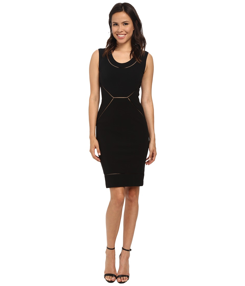 Nicole Miller Lalinda Structured Jersey Dress (Black) Women