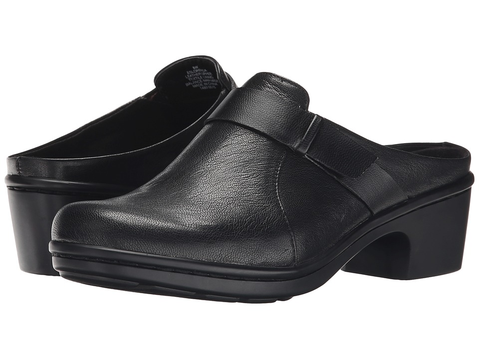 Easy Spirit - Lorenda (Black/Black Leather) Women's Slip on Shoes