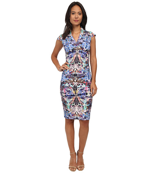 Nicole Miller - Rainforect Ponte Hadley Dress (Multi) Women's Dress