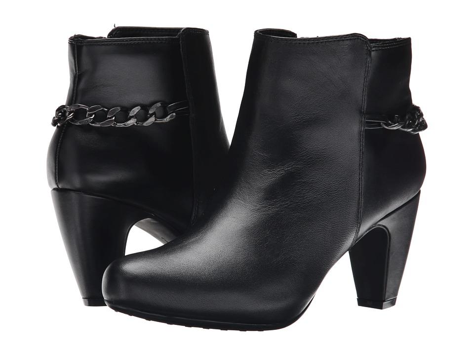 Easy Spirit Parilynn (Black/Black Leather) Women