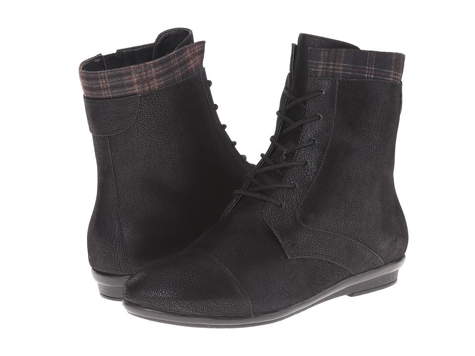 Easy Spirit - Kinseta (Black/Taupe Multi Fabric) Women's Shoes
