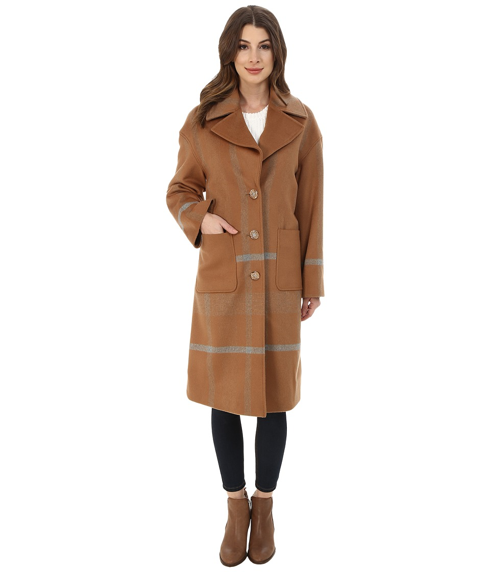 Pendleton - Plaid Coat (Camel Plaid) Women's Coat