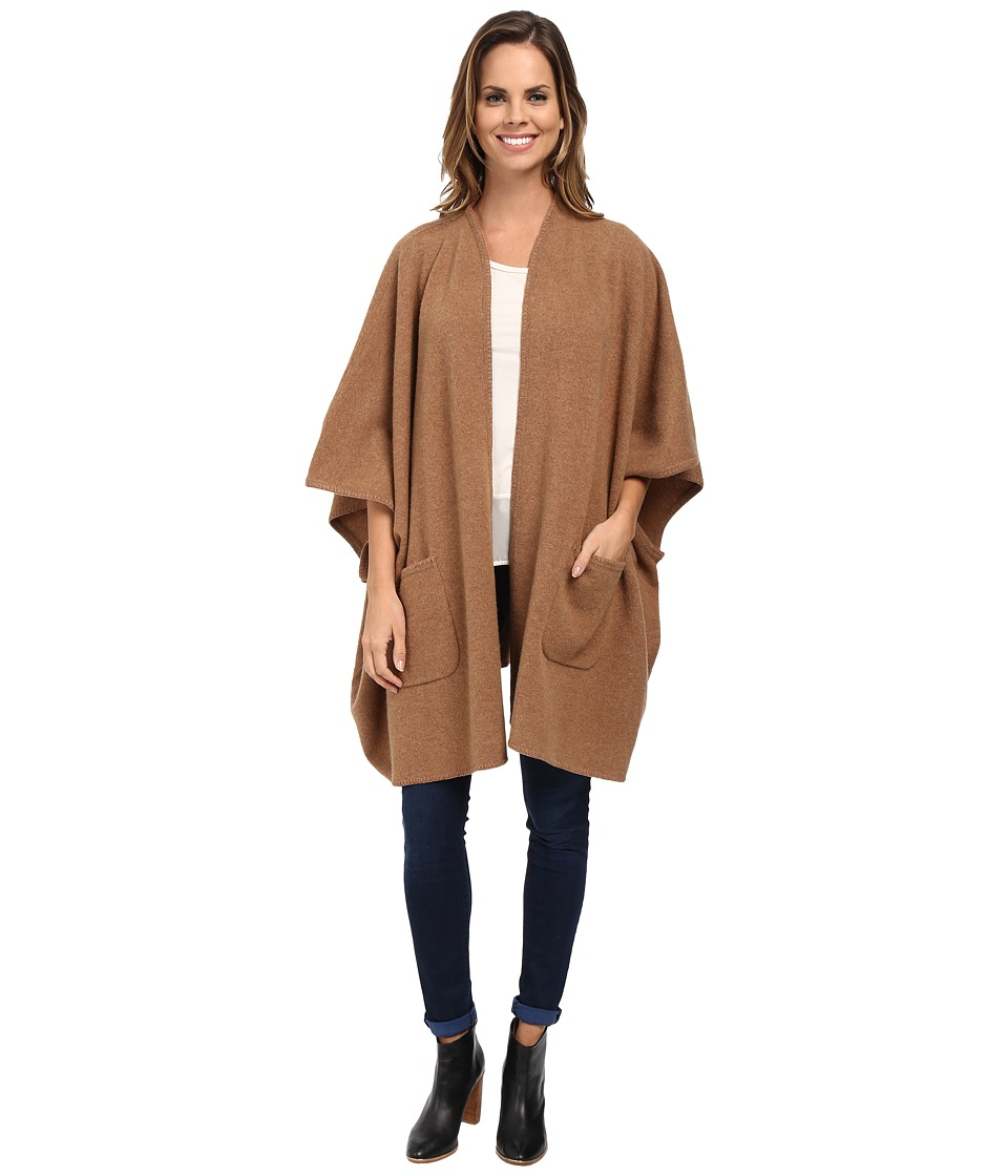 Pendleton - Knit Cape (Camel Heather) Women's Sweater