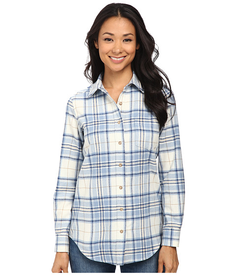 Pendleton - Keep It Classic Plaid Shirt (Ivory/Blue Plaid) Women's Clothing