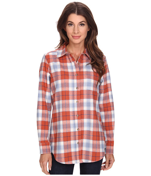 Pendleton - Keep It Classic Plaid Shirt (Red Ochre/Light Indigo Plaid) Women's Clothing