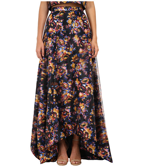 Nicole Miller - 3D Floral Tea Length Full Skirt (Multi) Women's Skirt