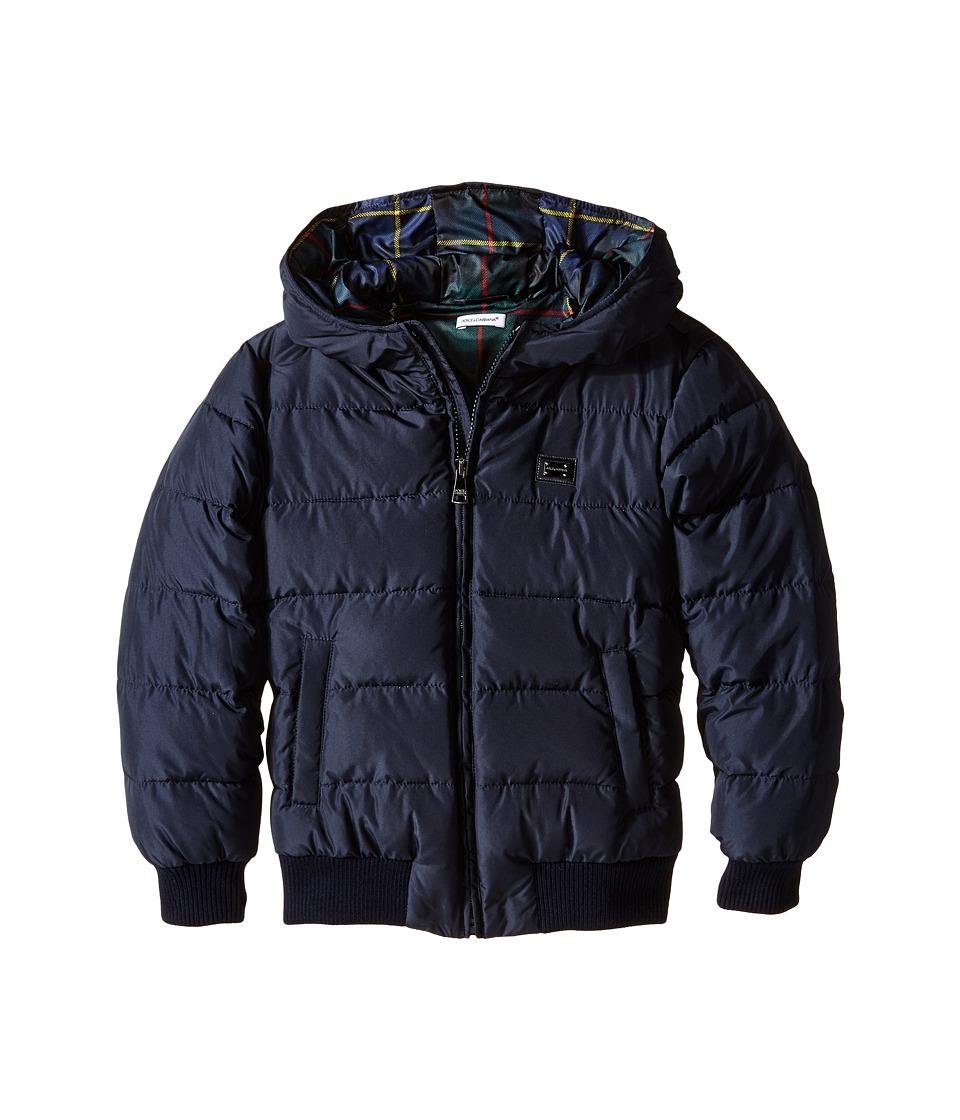 Dolce & Gabbana - Short Down Jacket (Big Kids) (Very Dark Blue) Men's Coat