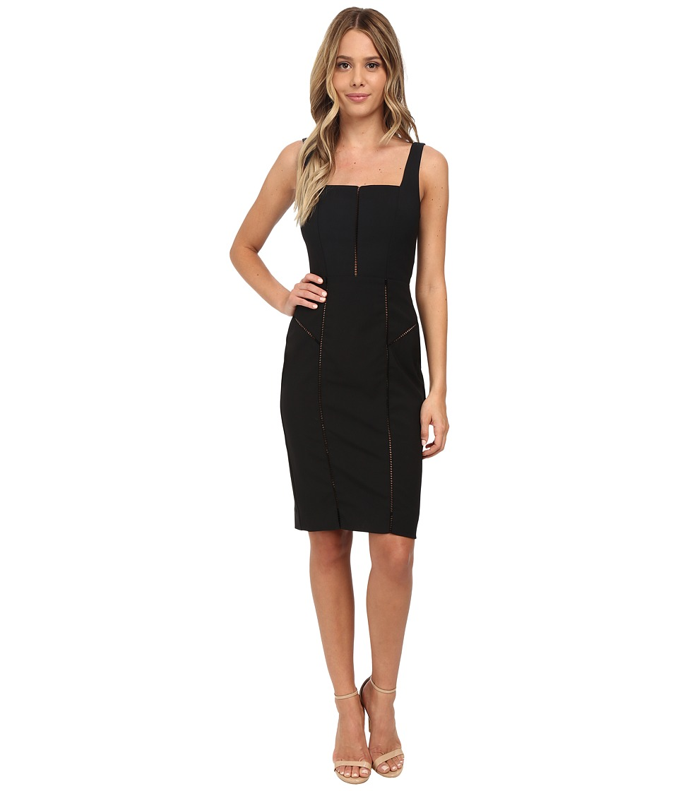 Nicole Miller Alaiya Square Neck Cocktail Dress (Black) Women