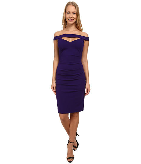 Nicole Miller - Triangle Cutout Party Dress (Majestic Purple) Women's Dress