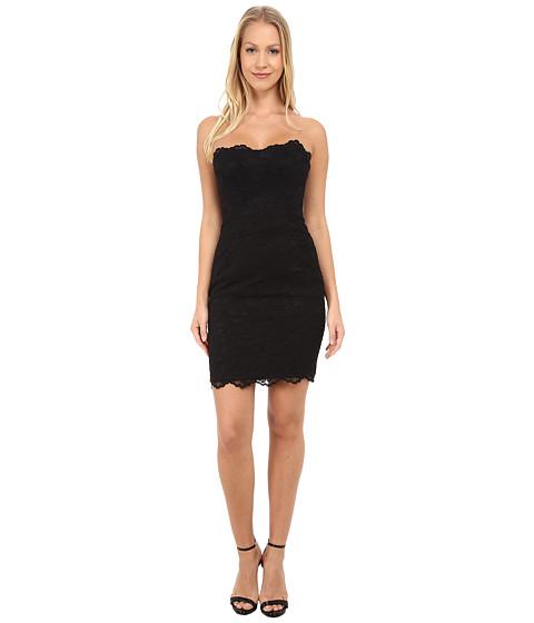 Nicole Miller - Lace Strapless Dress (Black) Women