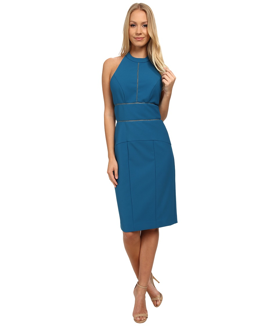 Nicole Miller Alister Halter Party Dress (Peacock) Women