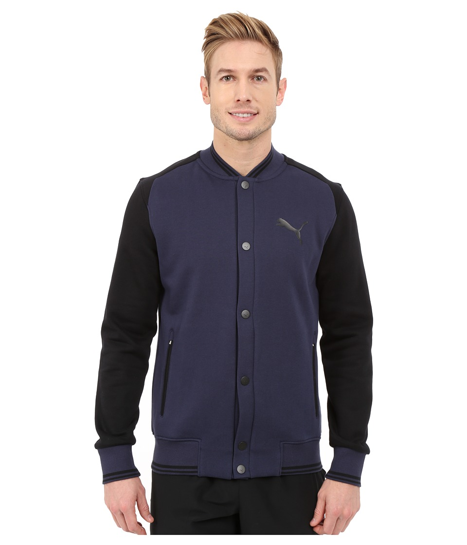 PUMA - Varsity Jacket (Peacoat/Black) Men's Coat