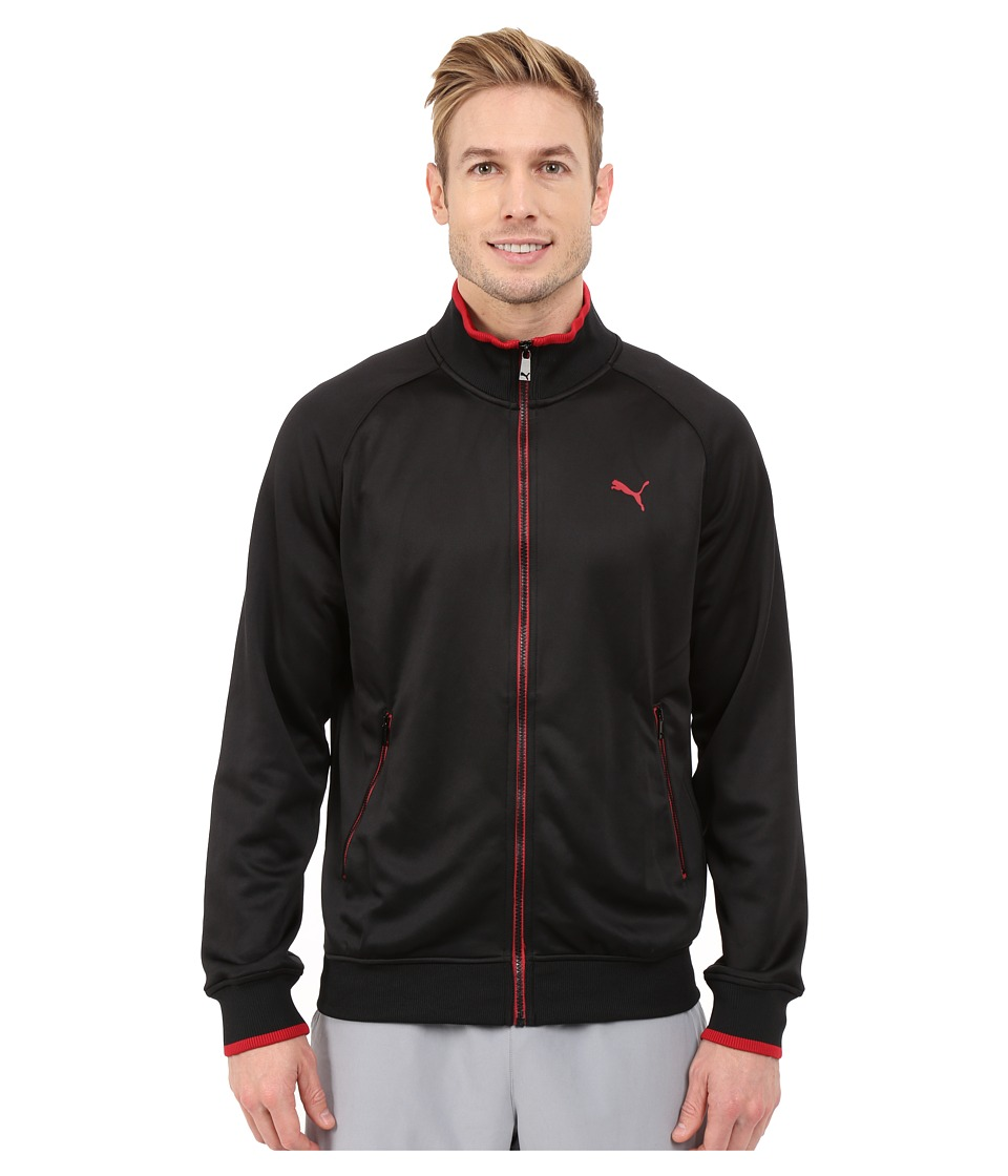 PUMA - Striped Jacket (Black/Scooter) Men's Coat