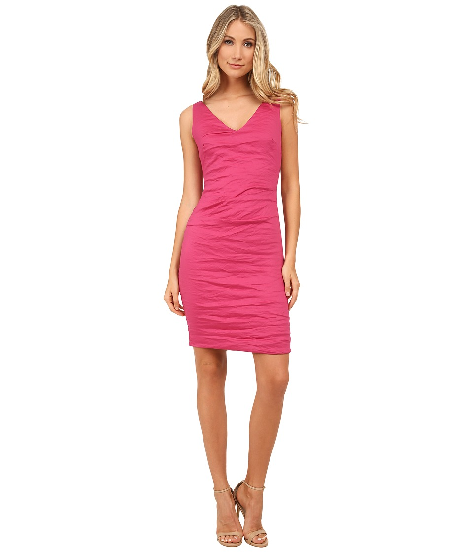 Nicole Miller Krista V-Neck Dress (Razzmatazz) Women