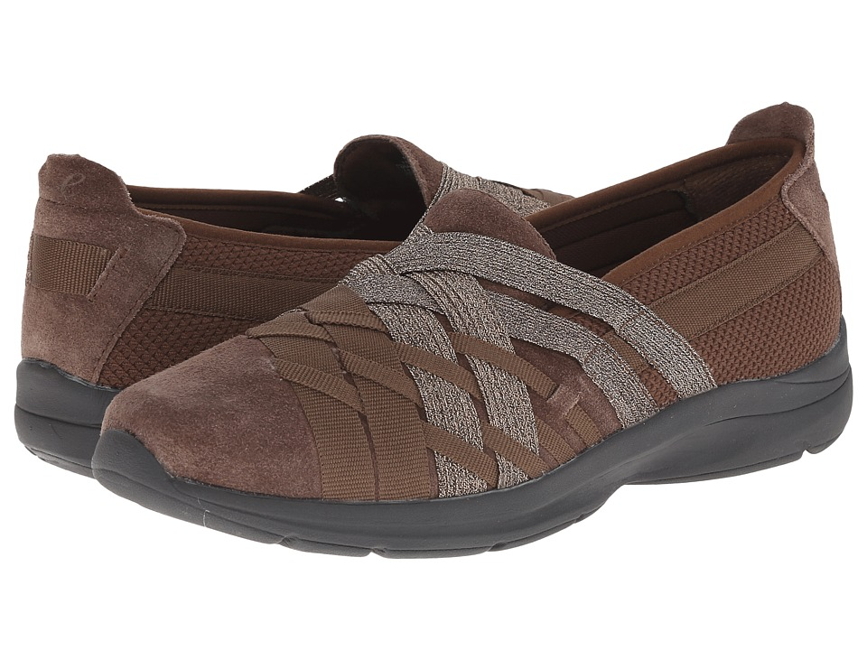Easy Spirit - Queenie (Dark Brown Multi Fabric) Women's Slip on Shoes