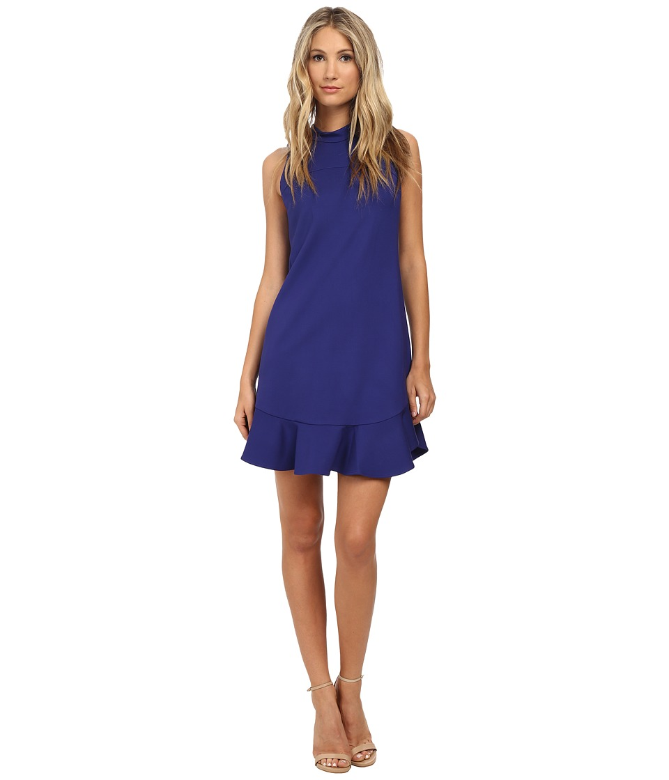 Rebecca Taylor - Sleeveless Ponte Mock Neck Dress (Viola Shock) Women's Dress