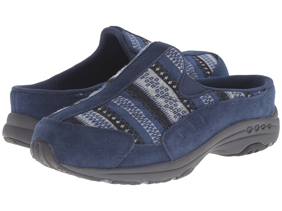 Easy Spirit - Traveltime (Navy/Blue Multi Suede) Women's Clog Shoes