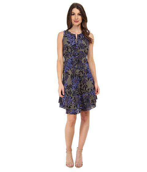 Rebecca Taylor - Sleeveless Flame Print Dress (Rosemary) Women's Dress