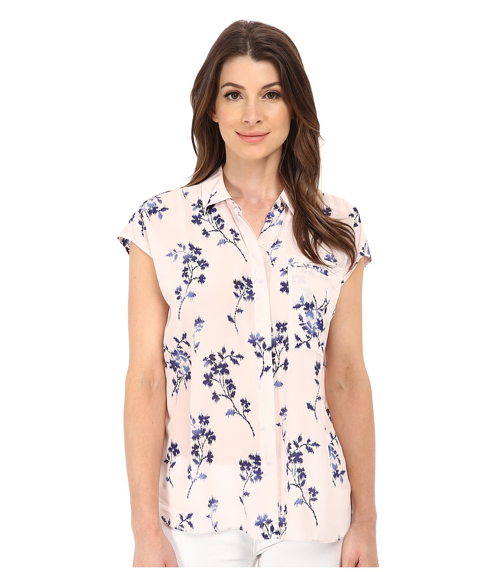 Rebecca Taylor - Sleeveless Wisteria Floral Top (Queen Pink) Women's Sleeveless