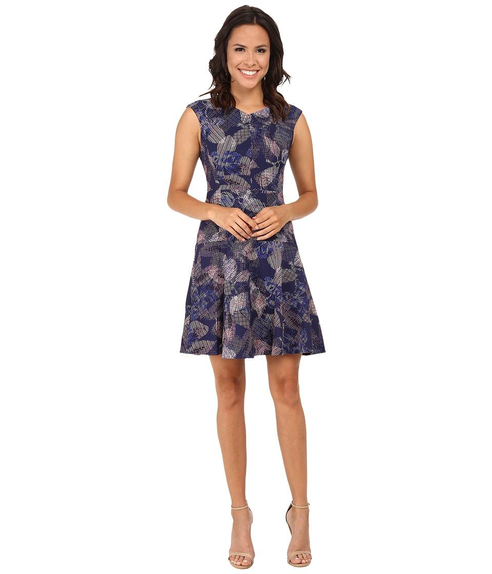 Rebecca Taylor Sleeveless Garden V-Neck Dress