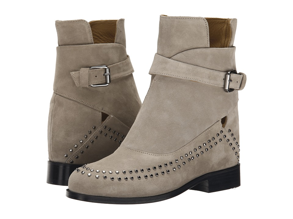 THAKOON ADDITION - Fiona 02 (Grey Suede Studs) Women's Pull-on Boots