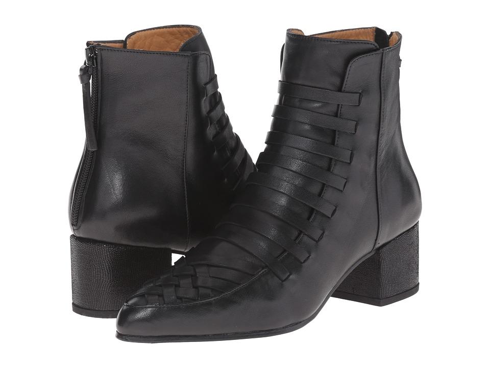 THAKOON ADDITION - Estelle 01 (Black Leather) Women's Zip Boots