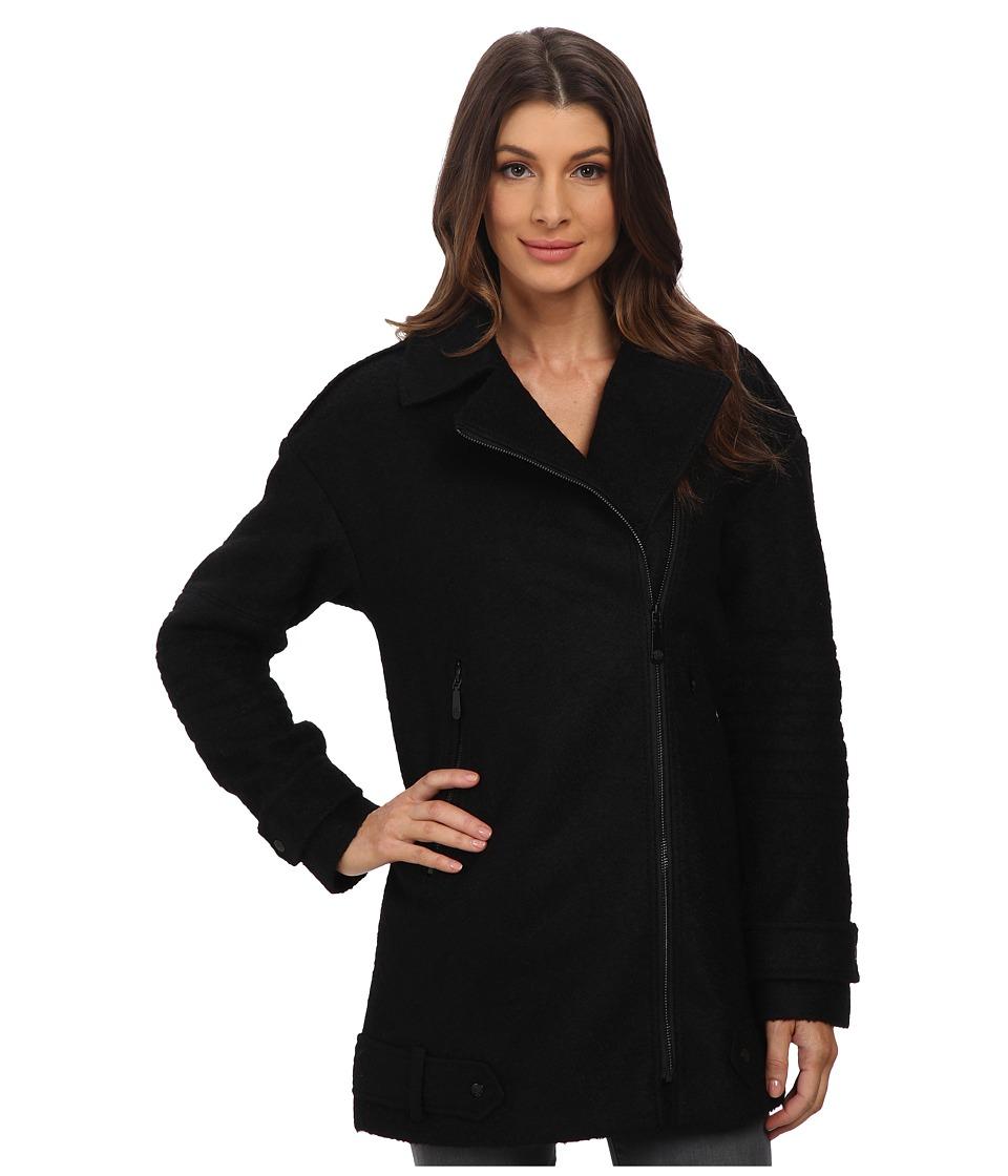 Vince Camuto - Asymmetrical Moto Wool J8141 (Black) Women's Sweater