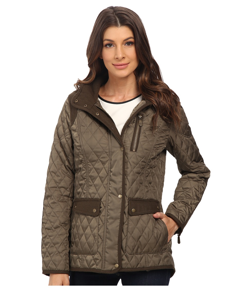 Vince Camuto - Quilted Jacket with Wool Trim J1501 (Pale Olive) Women's Coat