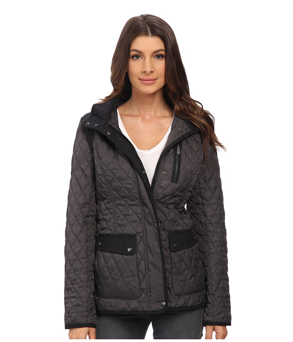 Vince Camuto - Quilted Jacket with Wool Trim J1501 (Iron) Women's Coat