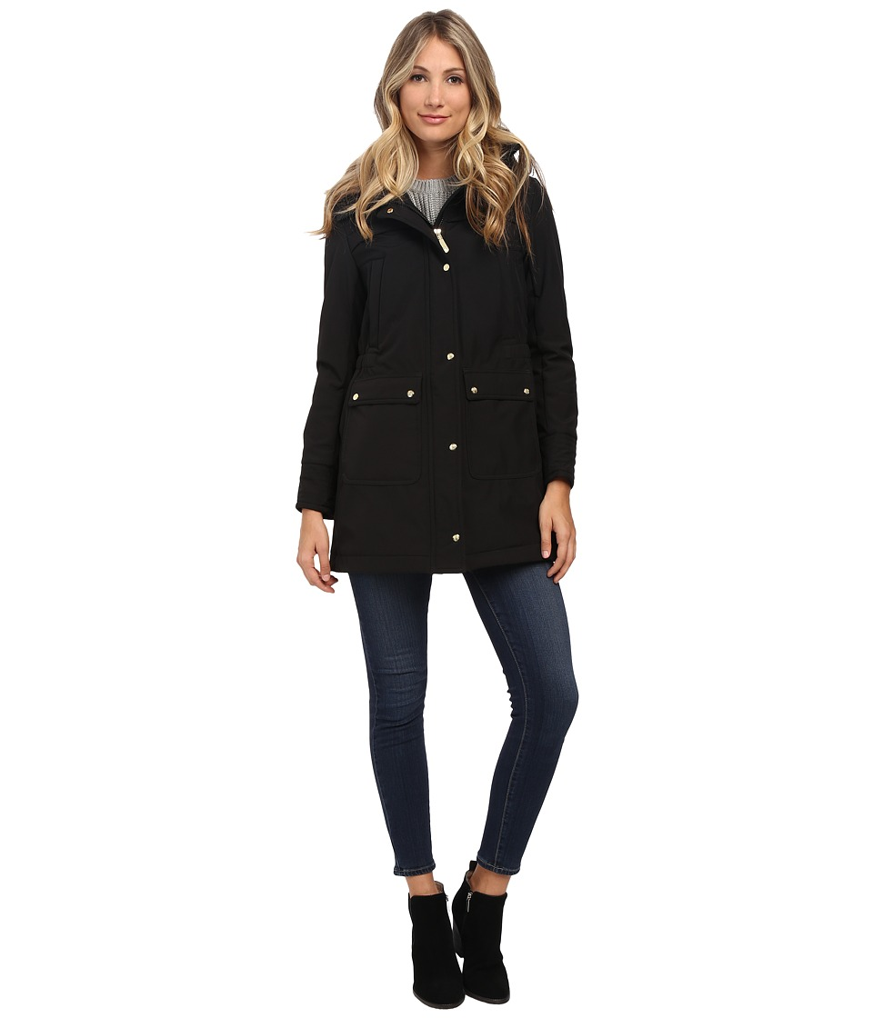 Vince Camuto - Soft Shell with Hood J1001 (Black) Women's Coat