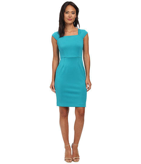 Calvin Klein - Square Neck Sheath Dress (Lagoon) Women's Dress