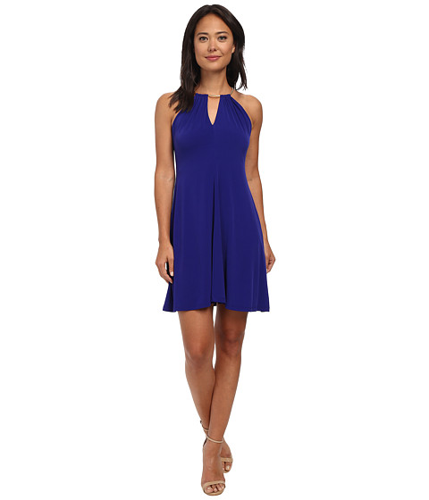 Calvin Klein - Chain Halterneck Dress (Byzantine) Women's Dress