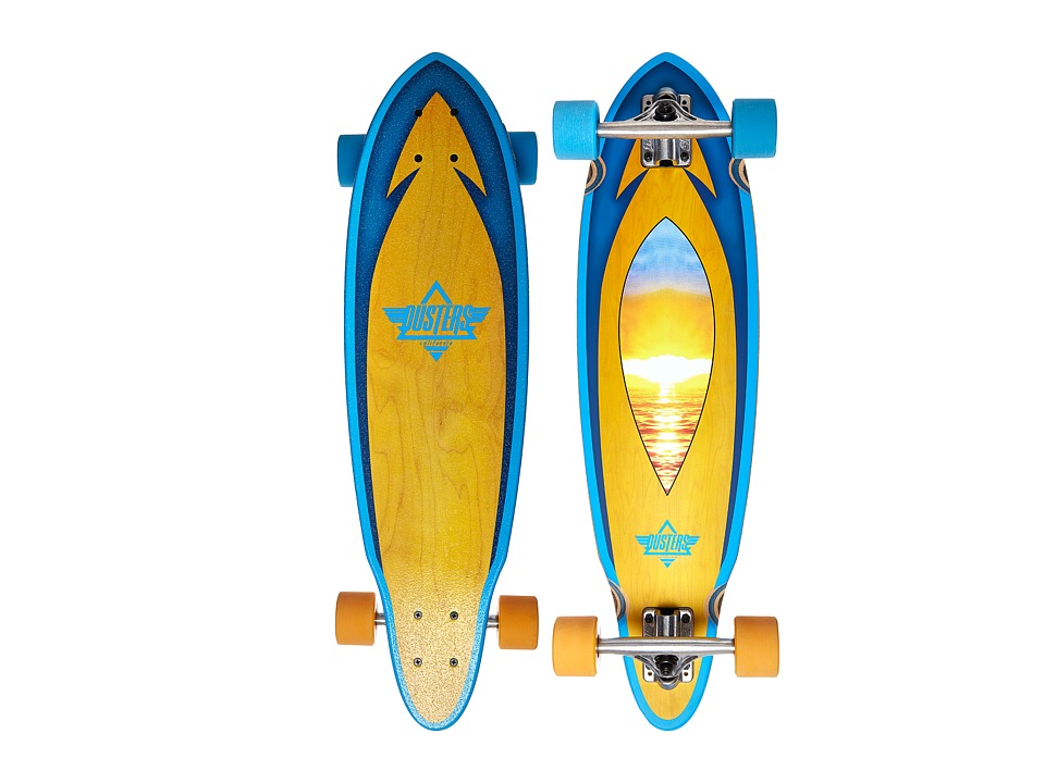 Dusters - Mini Fin (Sunset) Skateboards Sports Equipment
