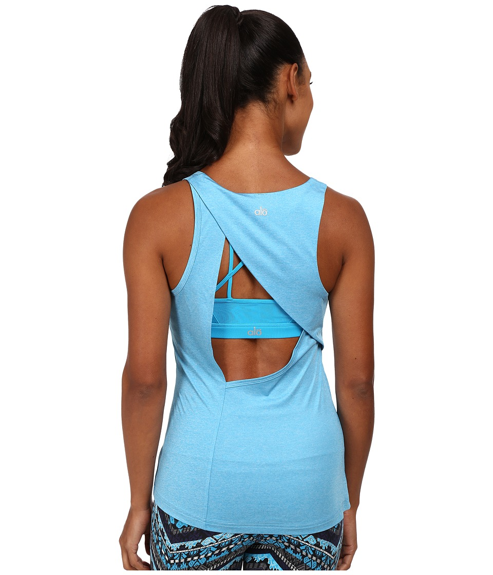 ALO - Mika Tank (Seaport Blue Heather) Women's Sleeveless