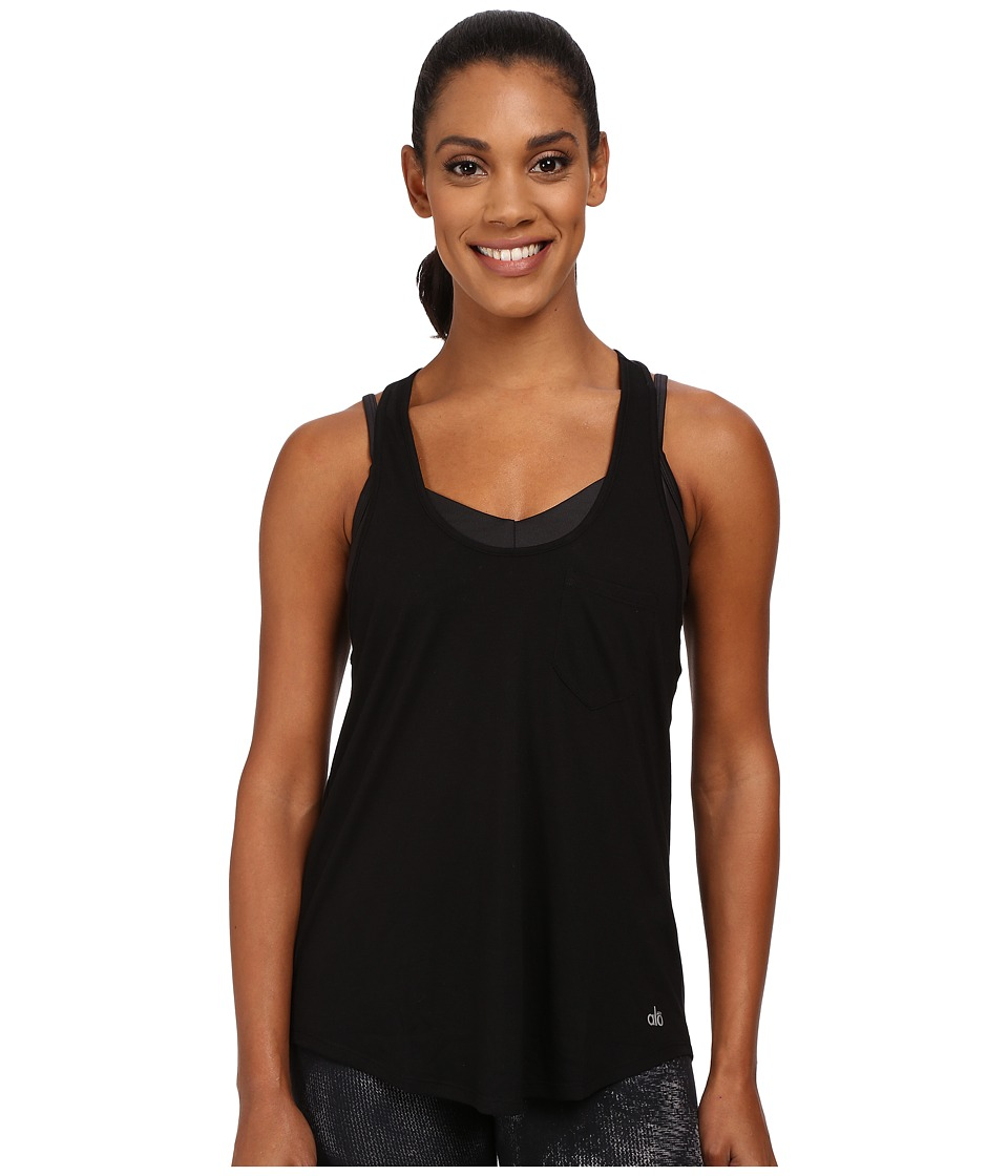 ALO - Extreme Racer Tank Top (Black) Women's Sleeveless