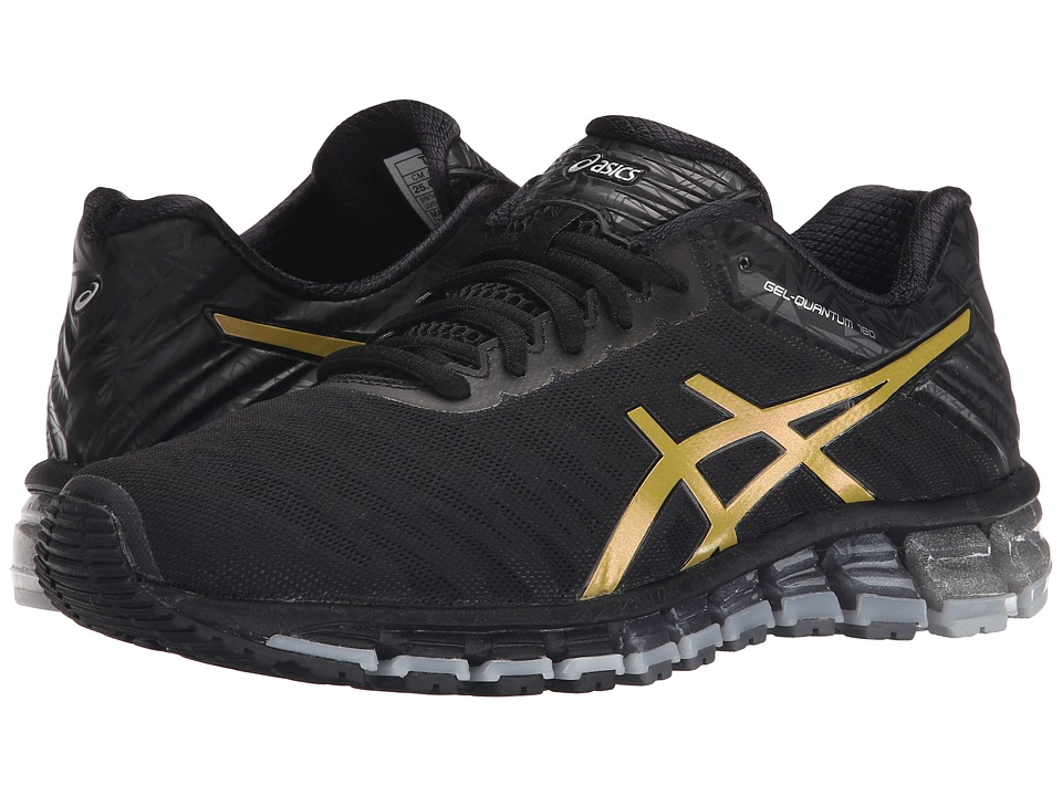 ASICS - GEL-Quantum 180 (Black/Gold/Silver) Women's Running Shoes