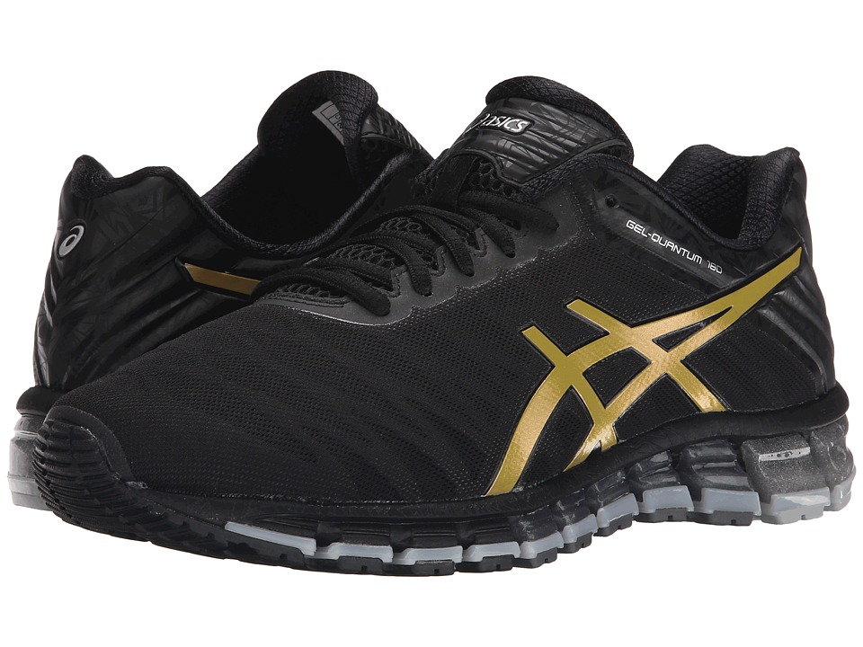 ASICS - GEL-Quantum 180 (Black/Gold/Silver) Men's Running Shoes