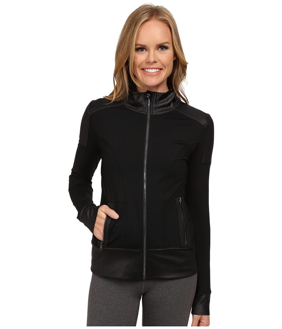 ALO - Moto Jacket (Black/Black Glossy) Women's Coat