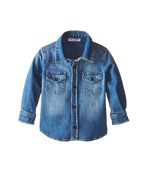 Dolce & Gabbana - Denim Western Shirt (Infant) (Blue) Men's Long Sleeve Button Up