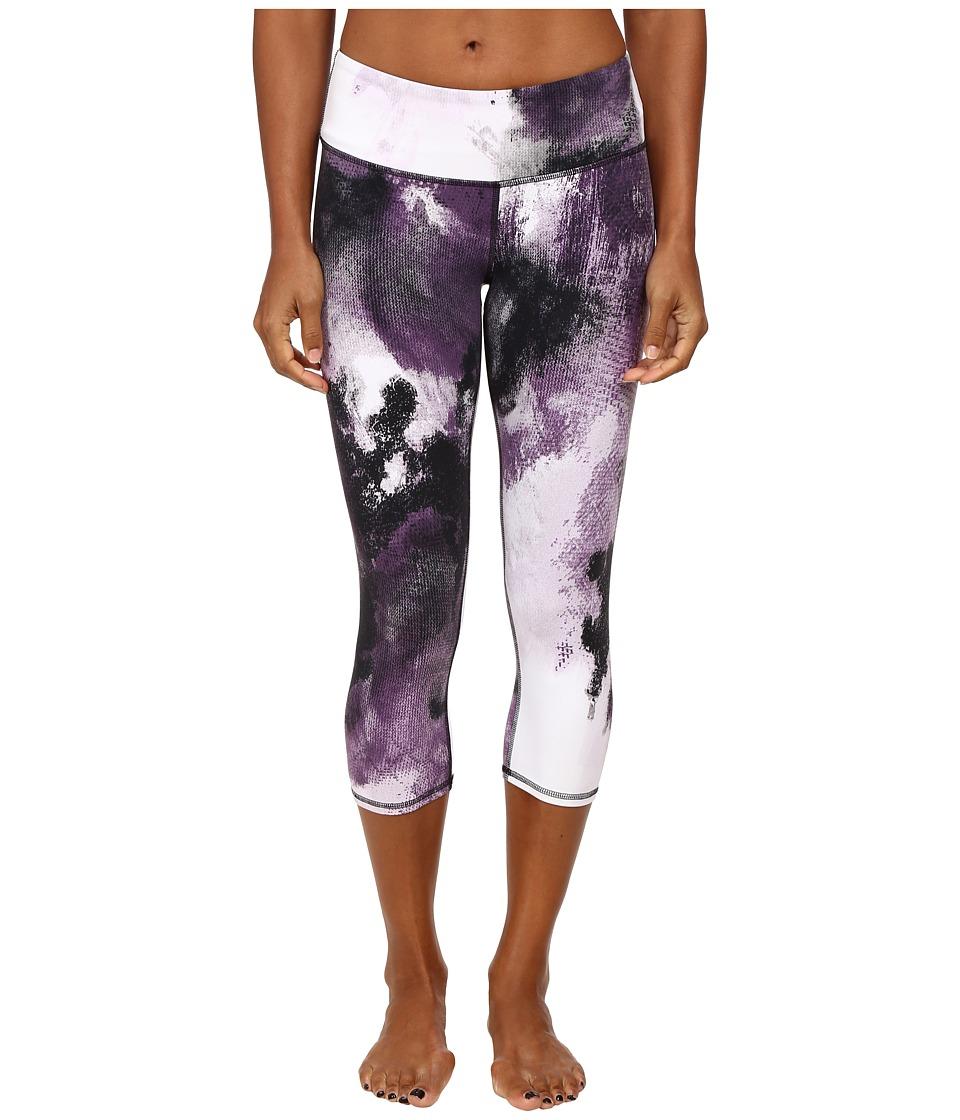 ALO - Airbrushed Capri (Purple Pennant Smoke Print) Women's Workout